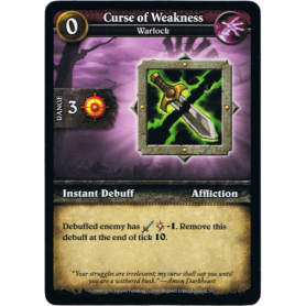 Curse of Weakness