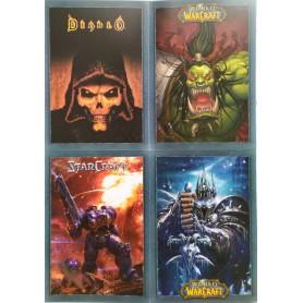 4 Cartes Postales - Diablo Warcraft Starcraft - Blizzcon PARIS 2008