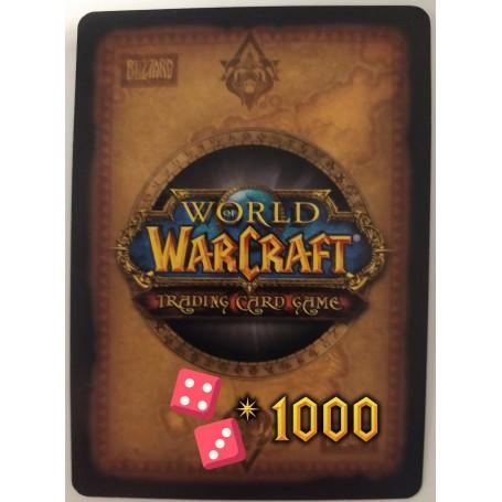 Lot de 1000 cartes aléatoires World of Warcraft TCG - Français